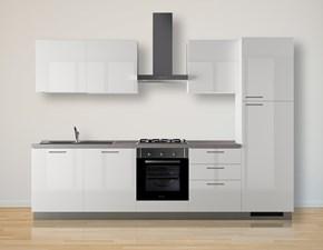 Cucina moderna bianca Scavolini lineare Sax in Offerta Outlet