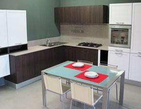 Cucina moderna bianca Snaidero ad angolo Contempo touch olmo dark in offerta