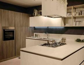Cucina moderna bianca Snaidero con penisola Way in Offerta Outlet