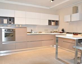 Cucina moderna bianca Stosa cucine con penisola Alevè scontata