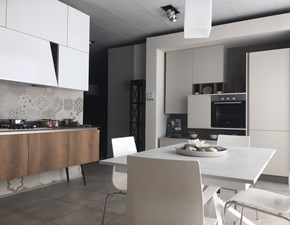 Cucina moderna bianca Stosa cucine lineare Infinity-diagonal in Offerta Outlet