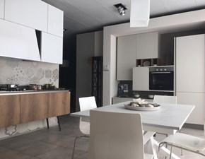 Cucina moderna bianca Stosa cucine lineare Infinity-diagonal in Offerta Outlet
