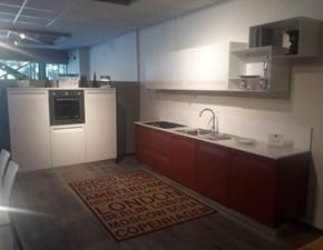 Cucina moderna bianca Stosa cucine lineare Rewind in Offerta Outlet
