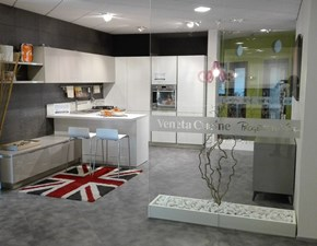 Cucina moderna bianca Veneta cucine con penisola Start time go scontata