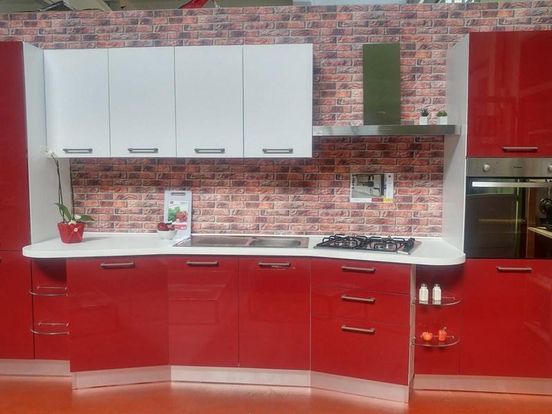 Cucina moderna colore bordeaux a prezzo scontato 49 - Cucina bordeaux ...