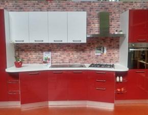 Cucina scavolini flux moderna laccato lucido rossa - Cucina rossa scavolini ...
