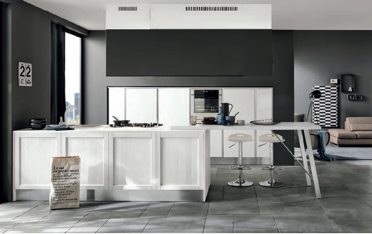 Cucina moderna con colonne frigo forno e isola in offerta nuovimondi cucine a prezzi scontati - Forno a legna cucina moderna ...