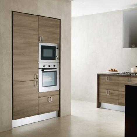 Cucina moderna con isola attrezzata moderna ante moderne - Cucina moderna penisola ...