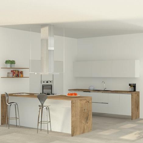 Cucina moderna con isola, elettrodomestici inclusi, nuova a prezzo ...