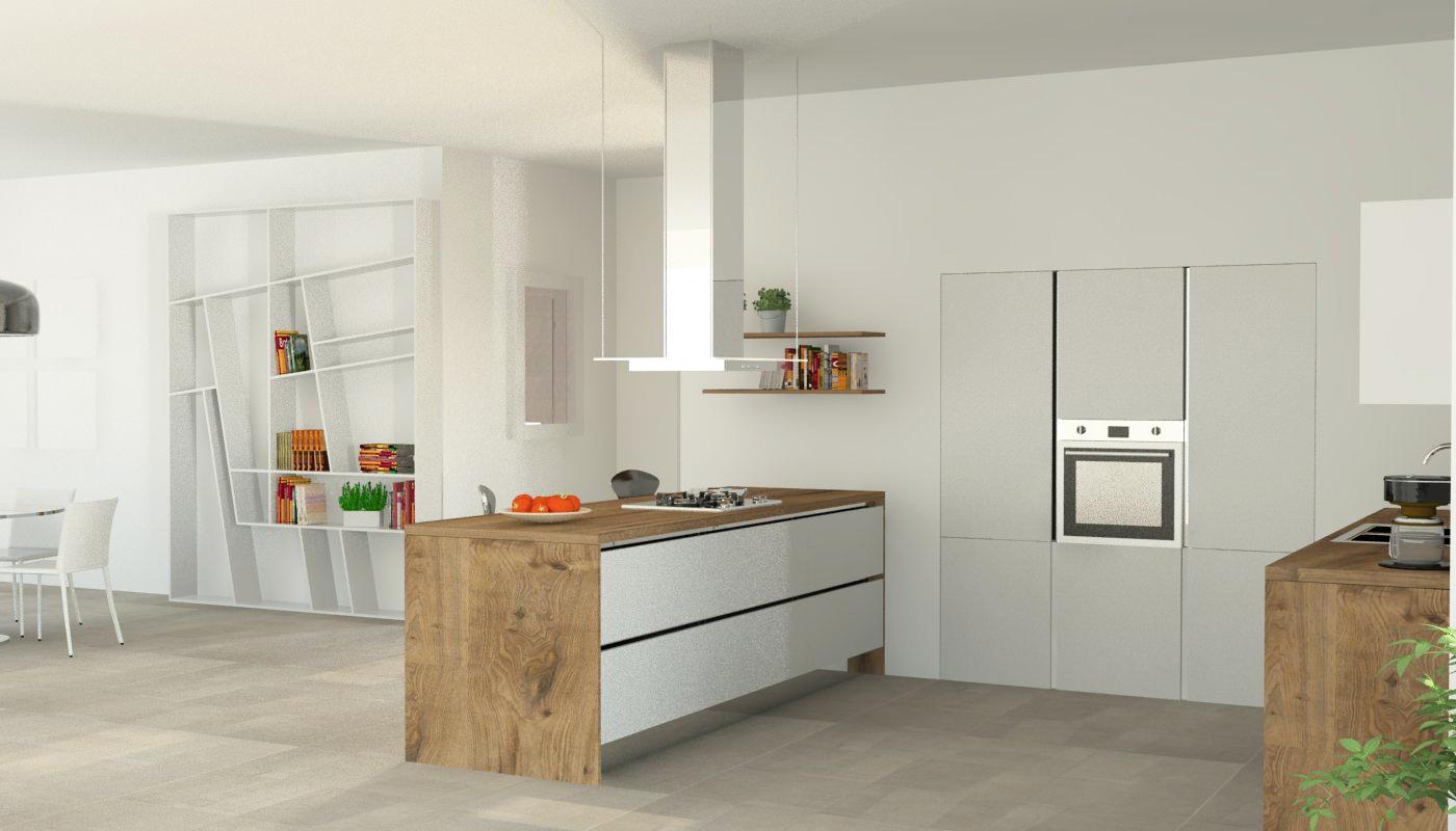 Cucina Moderna Con Isola Elettrodomestici Inclusi Nuova