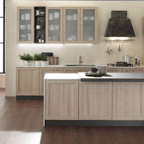Cucina moderna con isola shabby chic noir in offerta for Cucina moderna 330