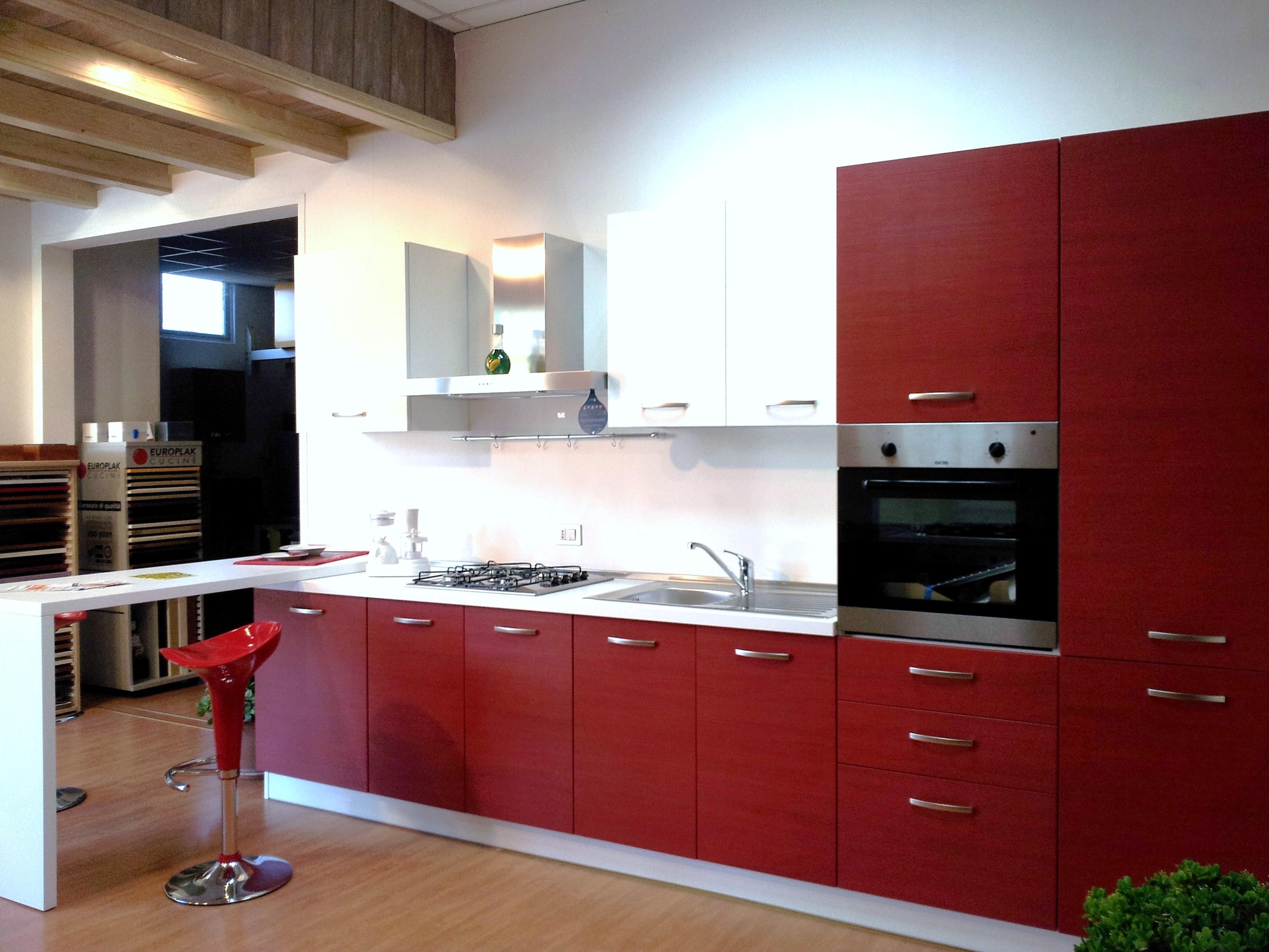Cucina moderna con penisola 15318 cucine a prezzi scontati - Cucina con penisola ...