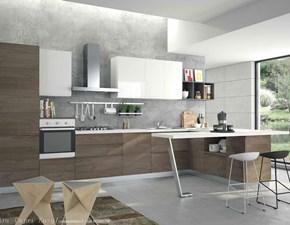 Cucina moderna con penisola Aerre cucine Kira a prezzo ribassato
