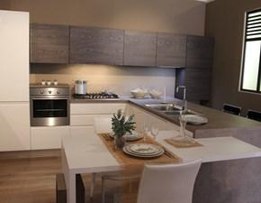 Cucina moderna con penisola Arrex-2 Arcobaleno a prezzo ribassato