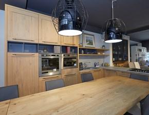 Cucina moderna con penisola Artigianale Comp 3 telaio rovere a prezzo scontato