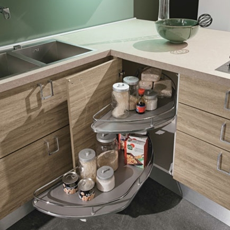 cucina moderna con penisola essenza rovere in offerta outlet ...