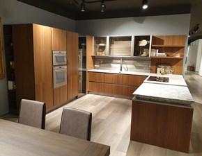 Cucina moderna con penisola Lube cucine Clover a prezzo scontato
