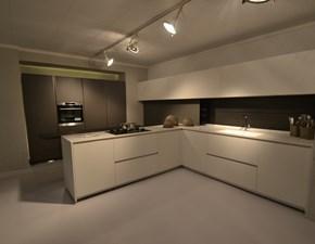 Cucina moderna con penisola Modulnova Light  a prezzo ribassato