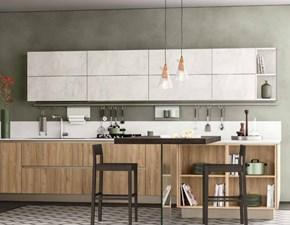 Cucina moderna con penisola Nuovi mondi cucine Cucina modena con colonne e piano penisola in offerta  a prezzo ribassato