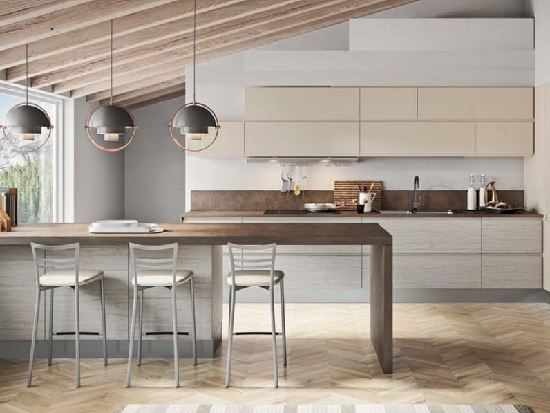 Cucine Moderne Con Prezzi.Cucina Moderna Con Penisola Nuovi Mondi Cucine Minimal Gola Integrata A Prezzo Ribassato