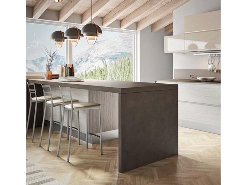Cucina moderna con penisola nuovi mondi cucine minimal - Cucina moderna prezzo ...