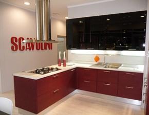 Cucina moderna con penisola Scavolini Rainbow a prezzo scontato