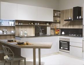 Cucina moderna con penisola Veneta cucine Start j a prezzo scontato