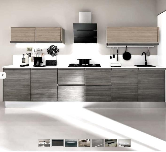 cucina moderna design in offerta completa di elettrodomestici beko ...