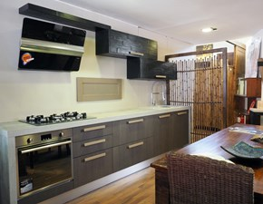 cucina moderna essenza grigia /black  in offerta  sconto convenienza