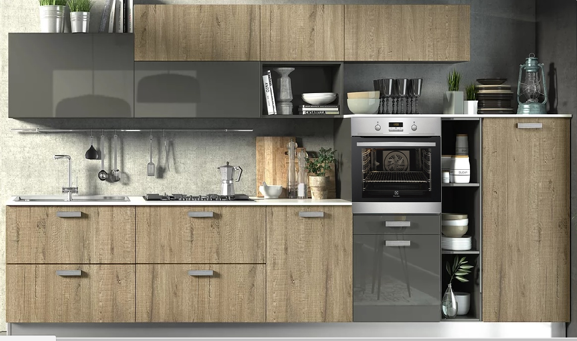 Awesome Cucine In Rovere Grigio Images - Ideas & Design 2017 ...