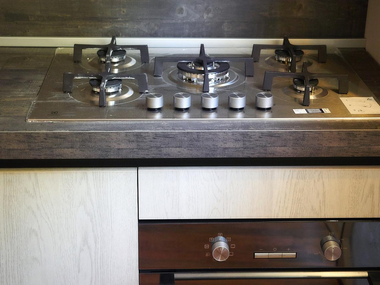 Cucina Moderna In Essenza : Cucina moderna essenza rovere ice e bambu in offerta