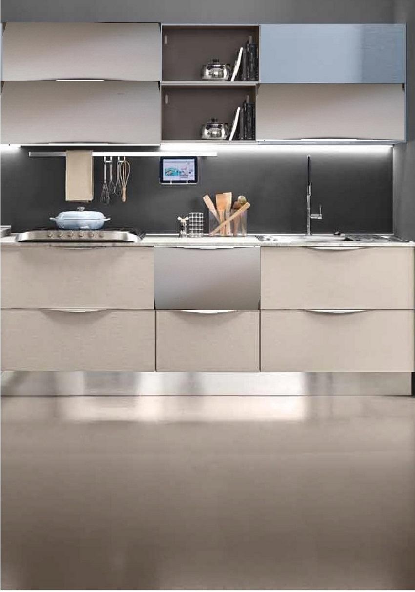 cucina moderna frassino dorian con penisola cemento dogato in ...