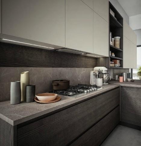 Cucina moderna gola con soggiorno integrato in offerta for Cucina moderna 3 60
