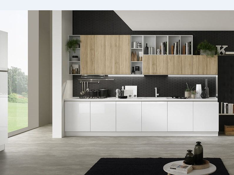 Cucina moderna gola in offerta con lavastoviglie in for Cucine moderne offerta