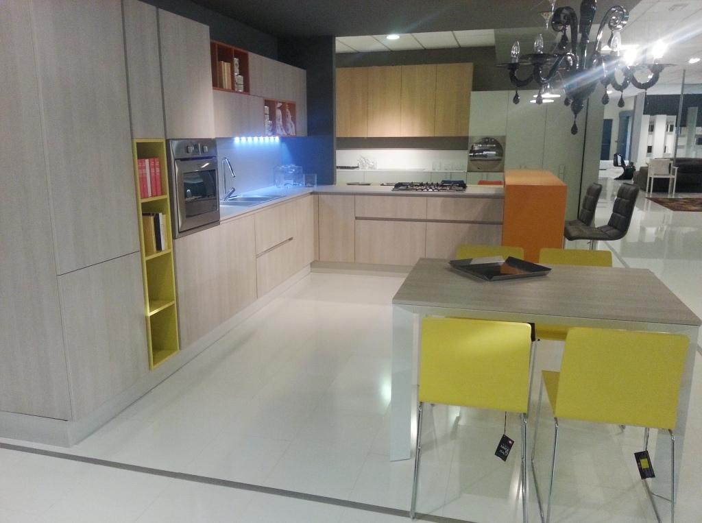 Cucina moderna grafy in rovere materico e pensili colorati cucine a prezzi scontati - Pensili cucina prezzi ...