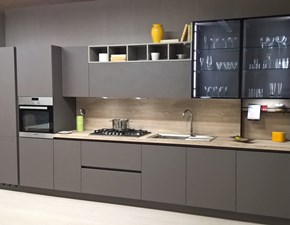 Cucina moderna grigio Ar-tre lineare Cemento scontata