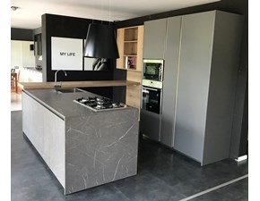 Cucina moderna grigio Arredo3 ad isola Kali in offerta