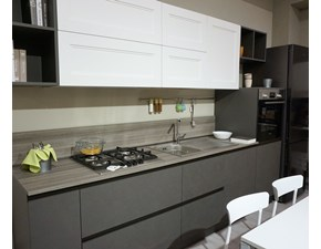 Cucina moderna grigio Arredo3 lineare Kaly - meg scontata