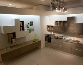 Cucina moderna grigio Arrex lineare Papaya in offerta