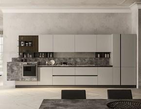 Cucina moderna grigio Artec lineare Lungomare scontata