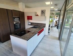 Cucina moderna grigio Doimo cucine con penisola Aspen in offerta
