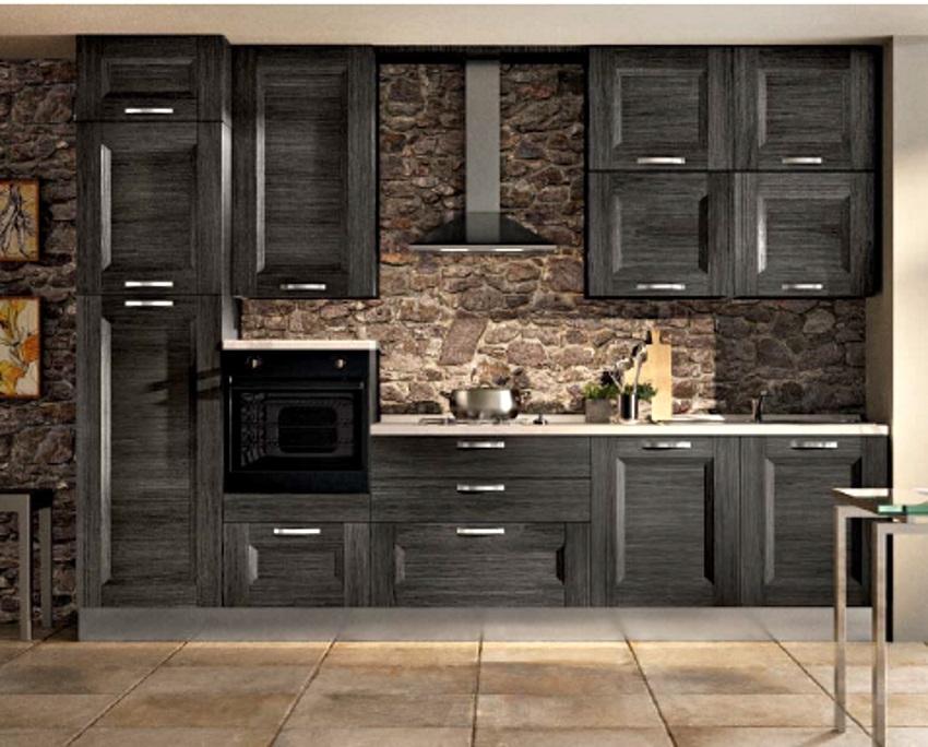 Top cucina moderna grigio industrial style con ellettrodmestici candy  LB89