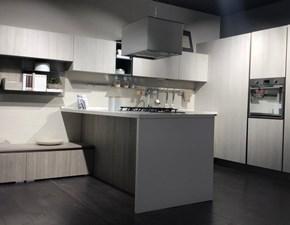Cucina moderna grigio Lube cucine ad angolo Immagina plus lux in offerta
