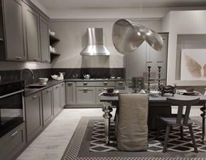 Cucina moderna grigio Scavolini ad angolo Favilla in Offerta Outlet