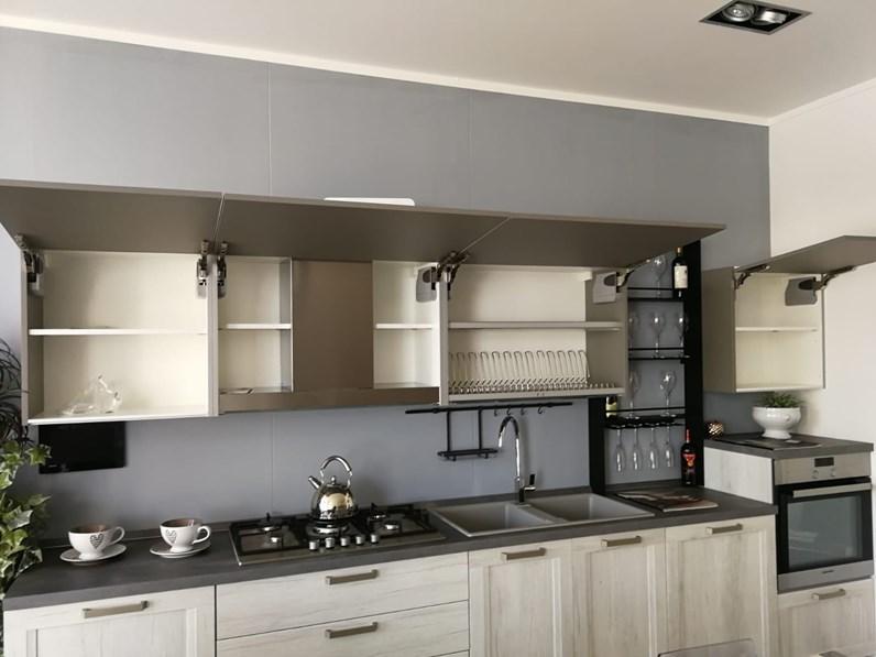 Cucina moderna grigio Scavolini lineare Sax telaio in offerta