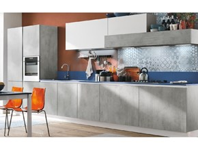 Cucina moderna grigio Stosa cucine lineare Infinity in Offerta Outlet