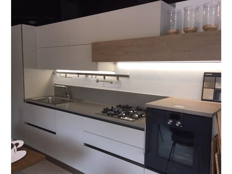 Cucina moderna grigio Veneta cucine lineare Oyster in Offerta Outlet