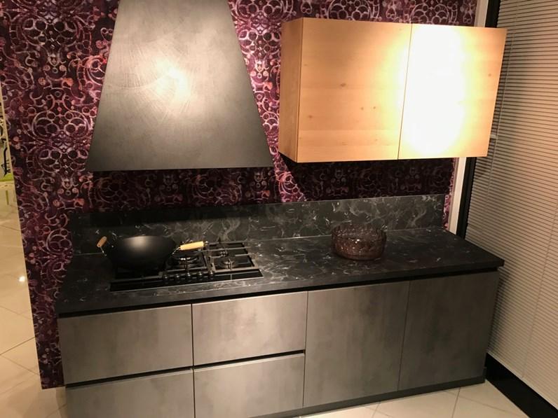 Cucina moderna in cemento antracite legno atma a prezzi outlet - Cucina moderna prezzi ...