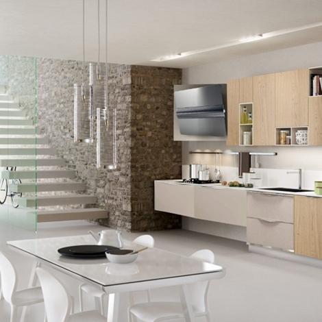 Cucina moderna in essenza frassino e rovere in offerta convenienza ...