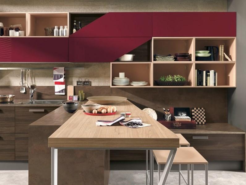 Cucina Moderna In Essenza : Cucina moderna in essenza olmo dark compresa di soggiorno